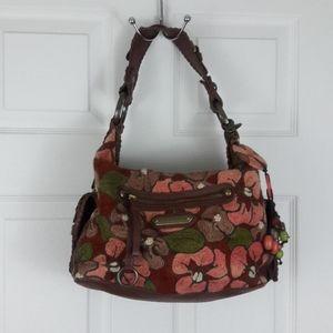 Isabella Fiore Embroidered Shoulder Bag Purse